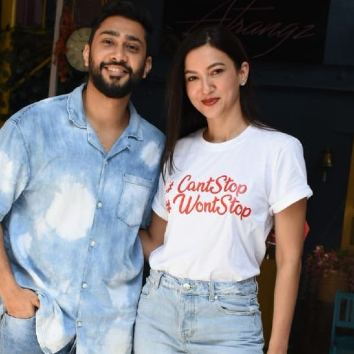 Gauahar Khan sports 'can't stop won't stop' t-shirt amid 60-day ban for COVID-19 rules violation