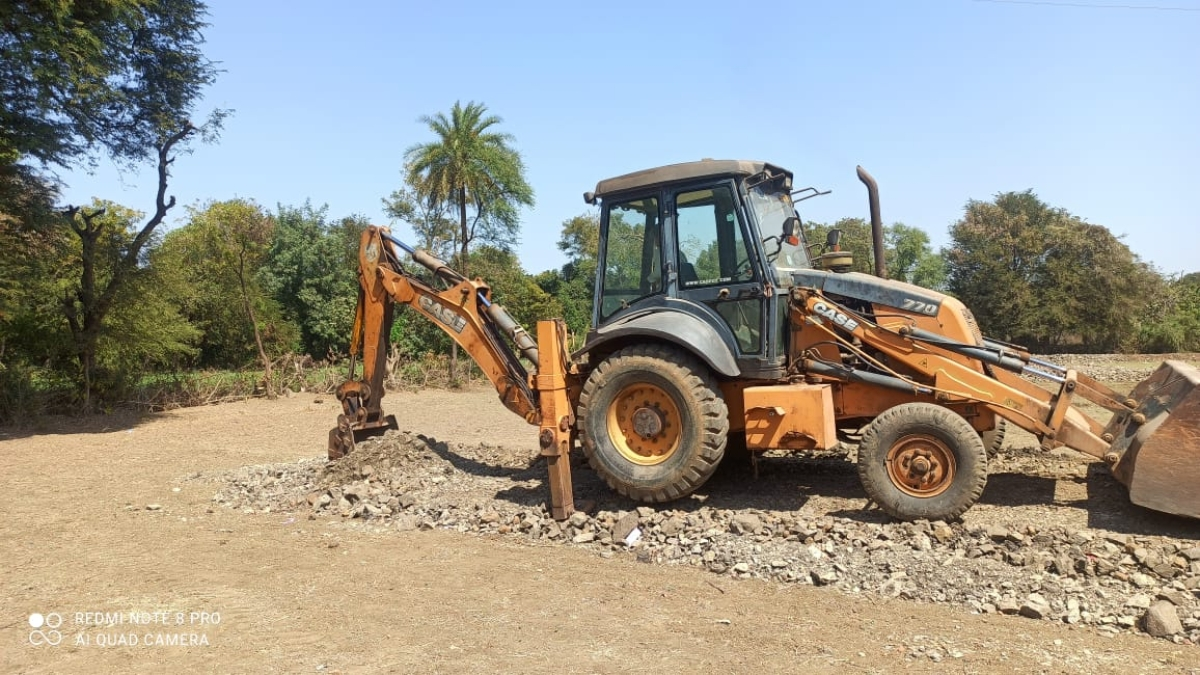 Guna: Road uprooted in residential colony laid without permission for land diversion