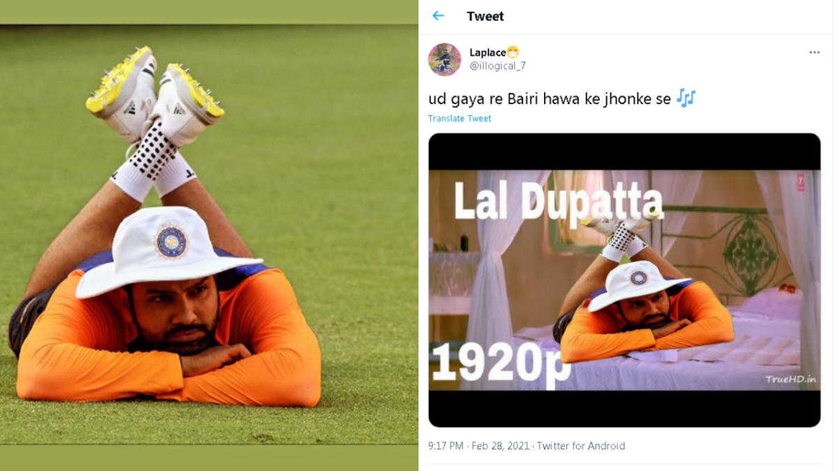 Move over Bernie Sanders! Cricketer Rohit Sharma's lazy pose is new ubiquitous viral meme
