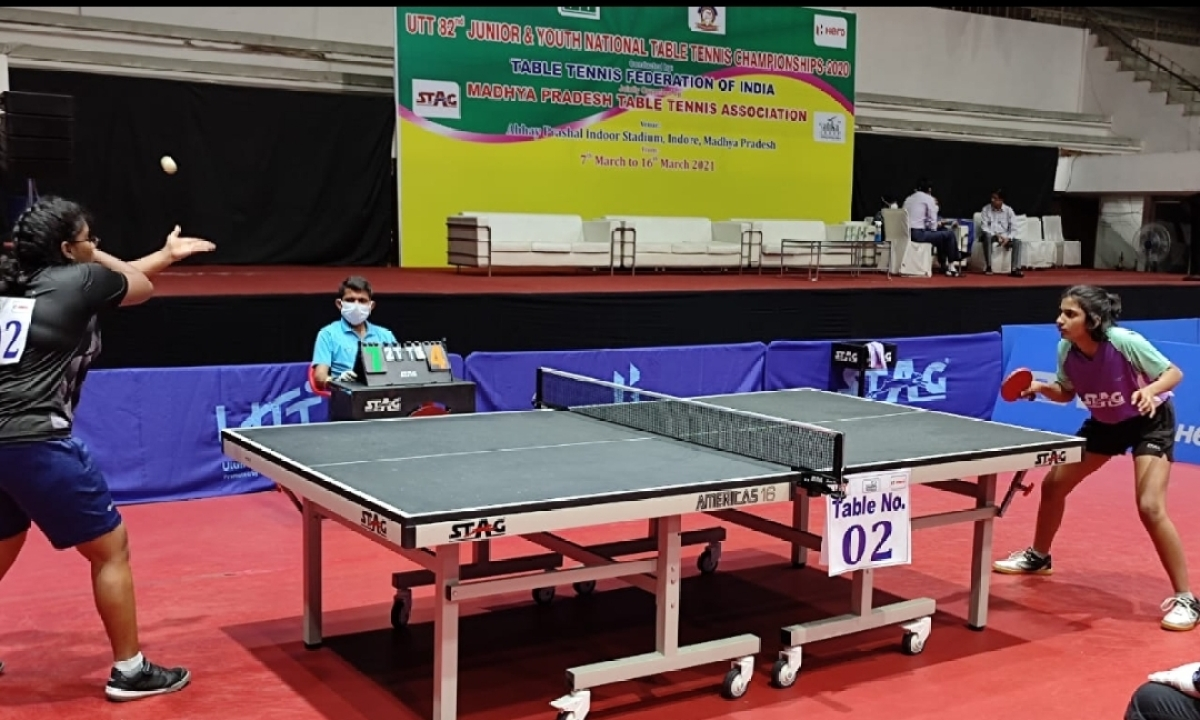 Indore: Yazhini sets tune, Pritha goes out of sync in national table tennis championship