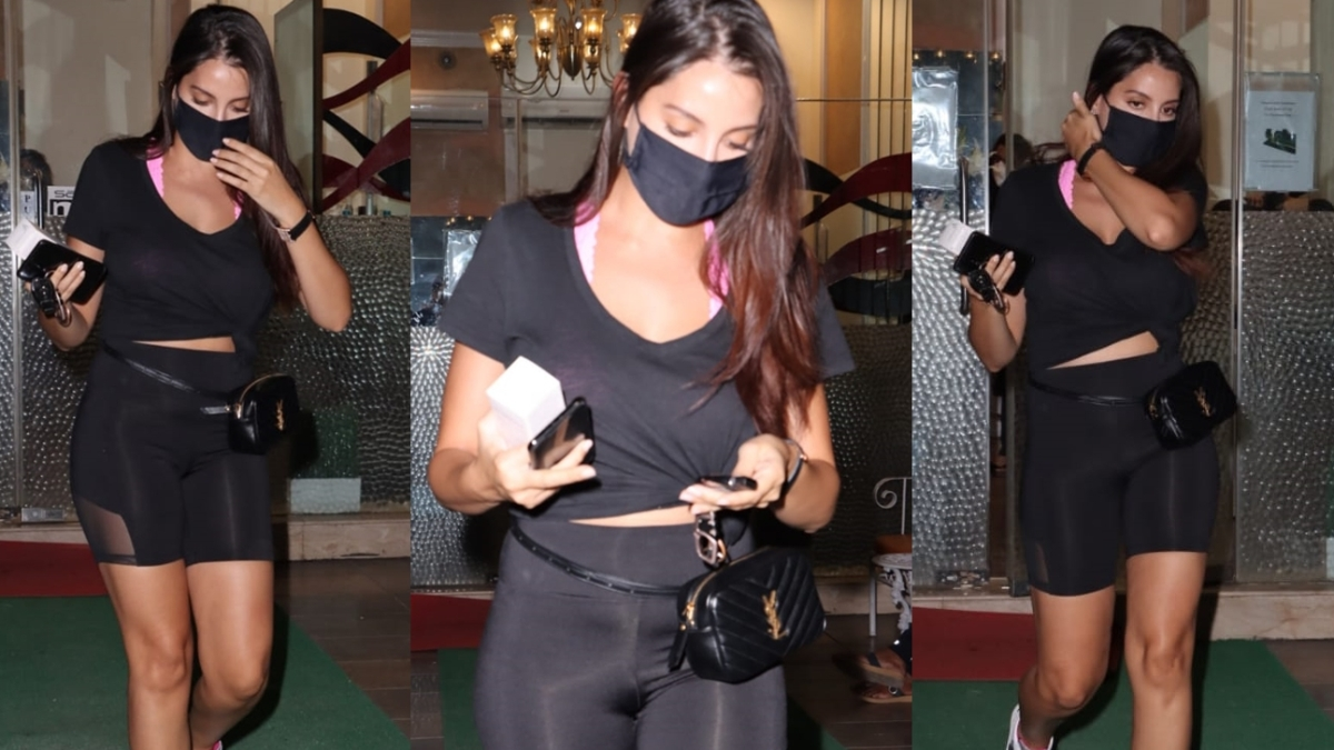 Nora Fatehi opts for a teeny tiny belt bag worth Rs 72,000 for a salon visit