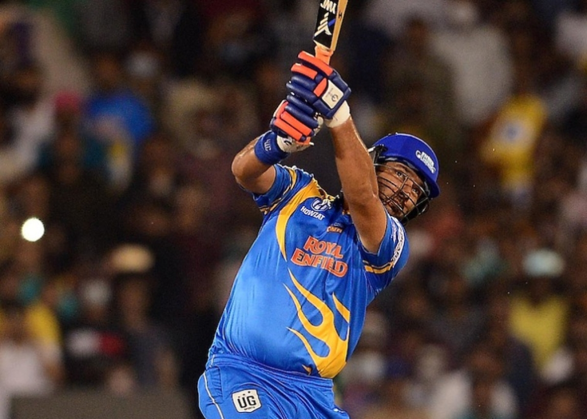 Road Safety World Series: Yuvraj Singh smashes 6 sixes against West Indies Legends