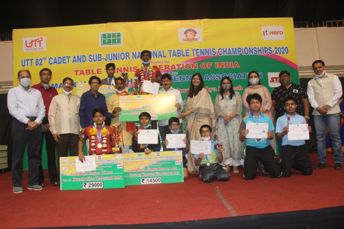 Indore: Preyesh is sub-junior boys champion of Cadet and Sub-Junior National Table Tennis Championship