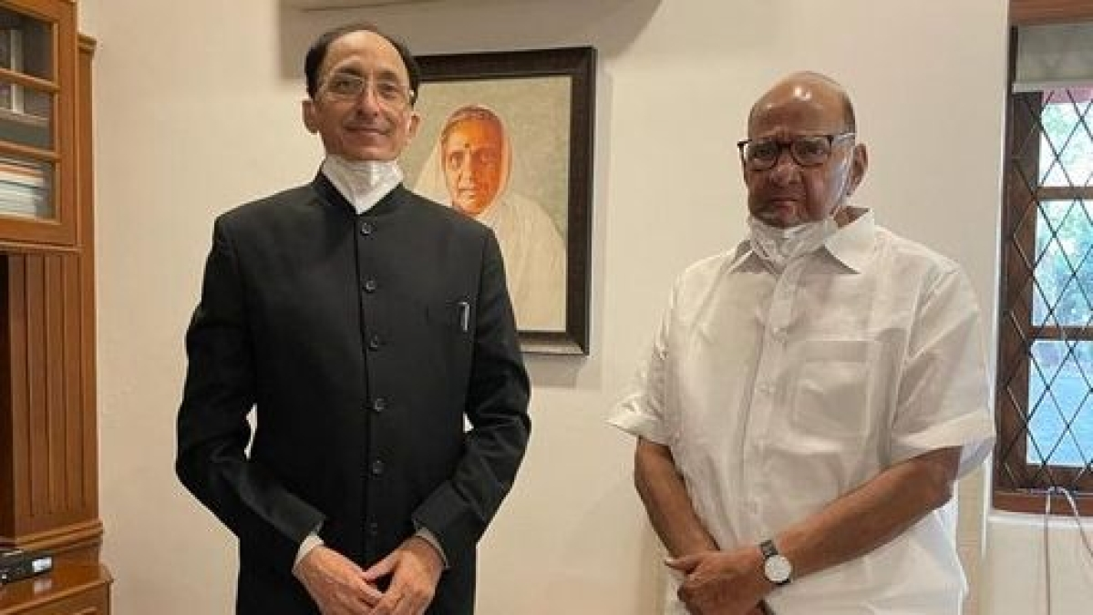 Mumbai: New Chief Secretary Sitaram Kunte meets Sharad Pawar, discusses state issues