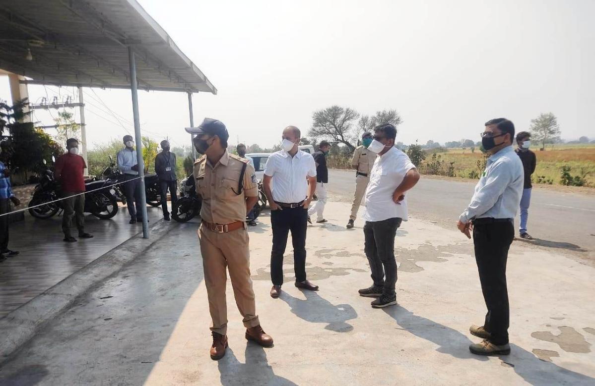 Madhya Pradesh: Strict vigil in Burhanpur, Collector, SP inspect border check posts