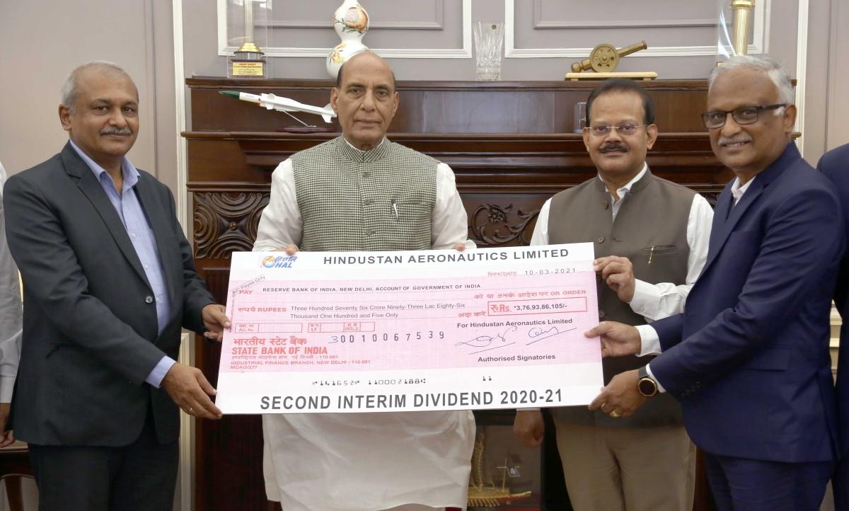 HAL pays second interim dividend to GOI