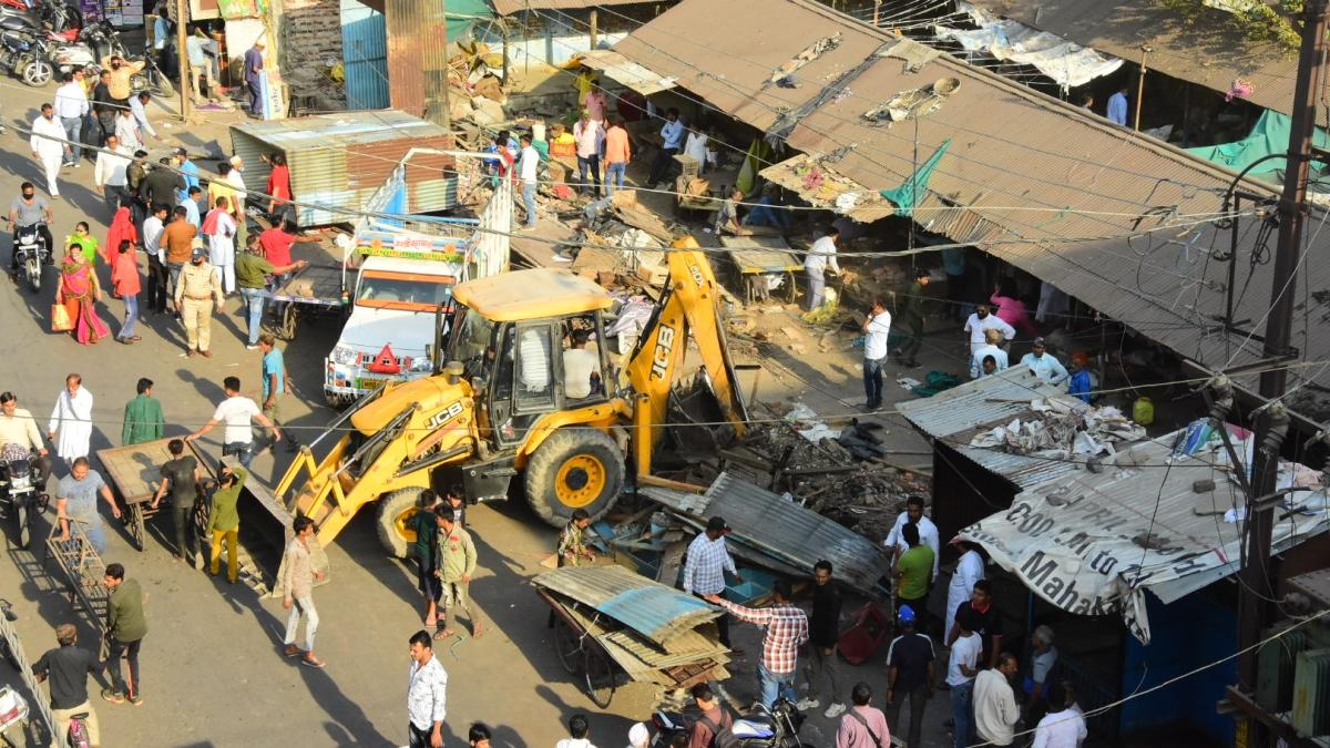 Ujjain: City's old vegetable market removed