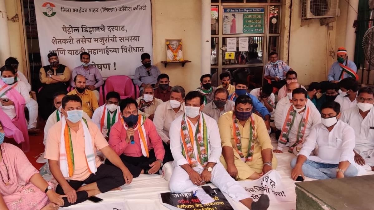 Bharat Bandh: Congress leader Muzaffar Hussain observes hunger strike in Mira Road