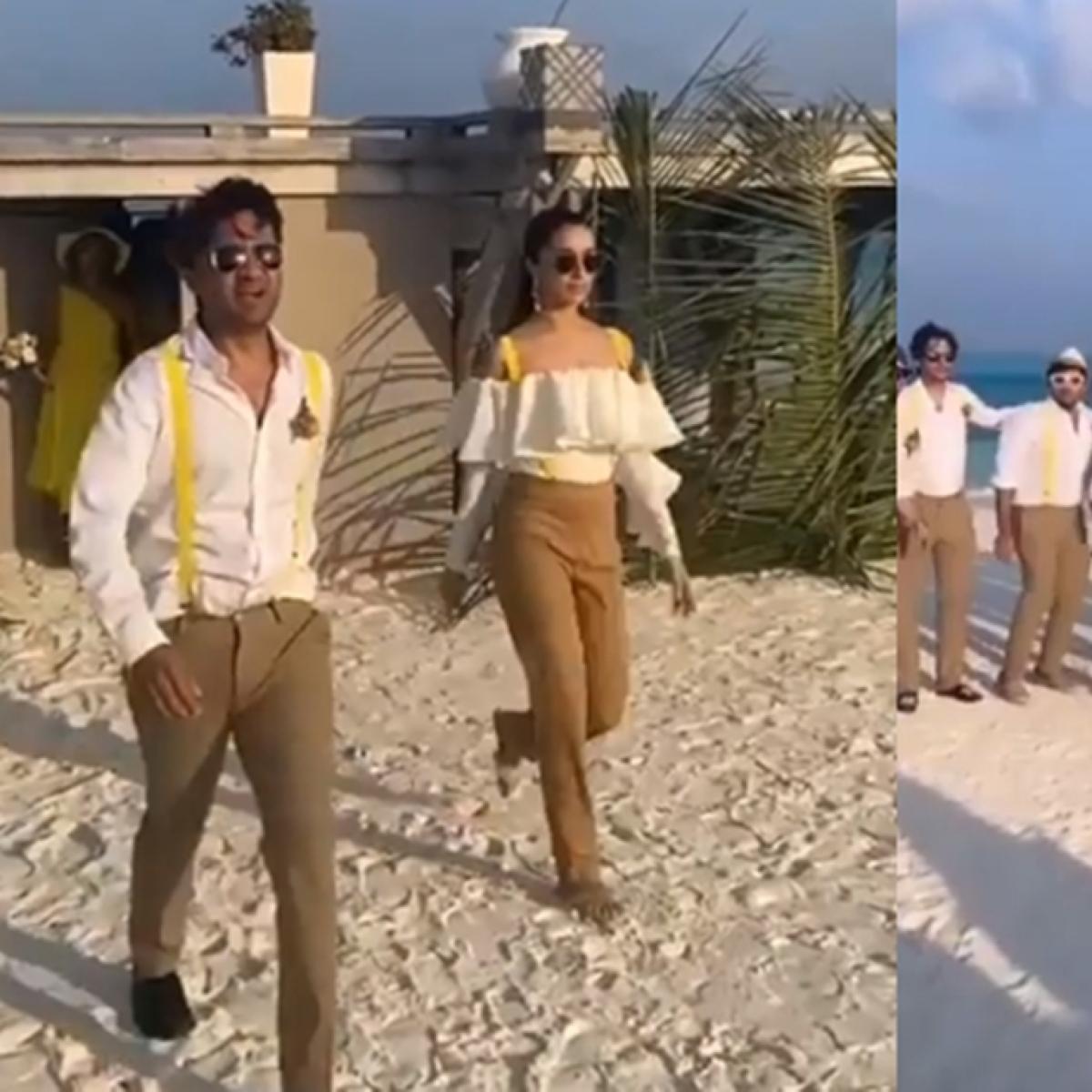 Watch: Shraddha Kapoor turns 'best man' for cousin Priyaank Sharma's wedding in Maldives