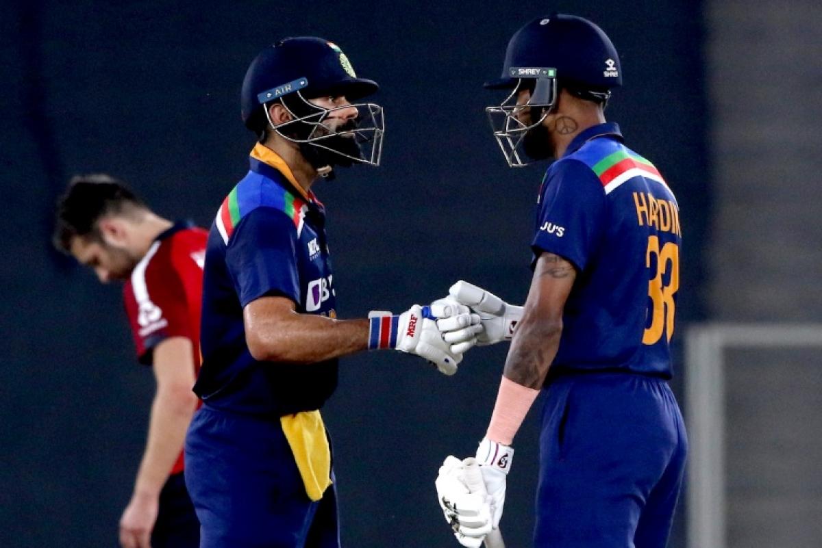 IND vs ENG, 5th T20I: Virat Kohli, Rohit Sharma and Hardik Pandya put on masterclass as hosts post 224/2