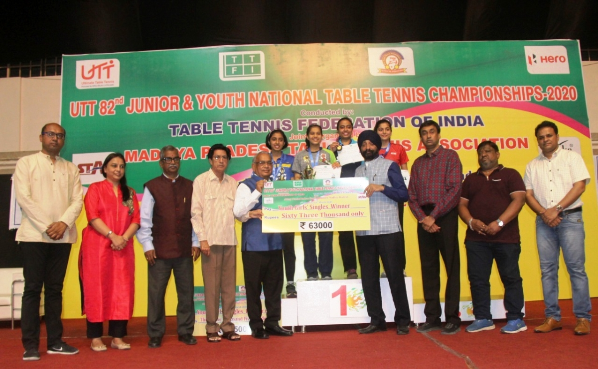 Indore: Diya retains youth title, Swastika wins junior crown in national table tennis championship