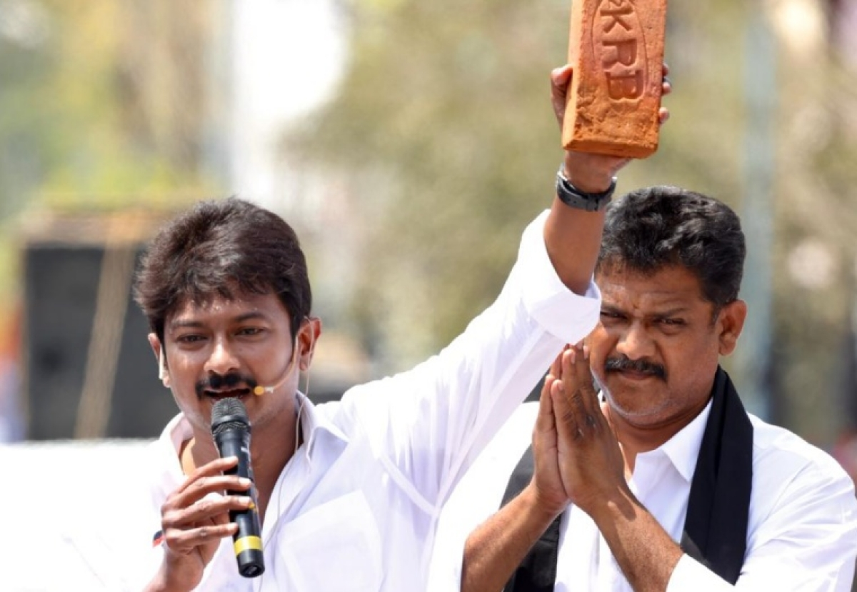 Tamil Nadu: Police complaint filed against Udhayanidhi Stalin for 'stealing brick' from AIIMS Madurai campus