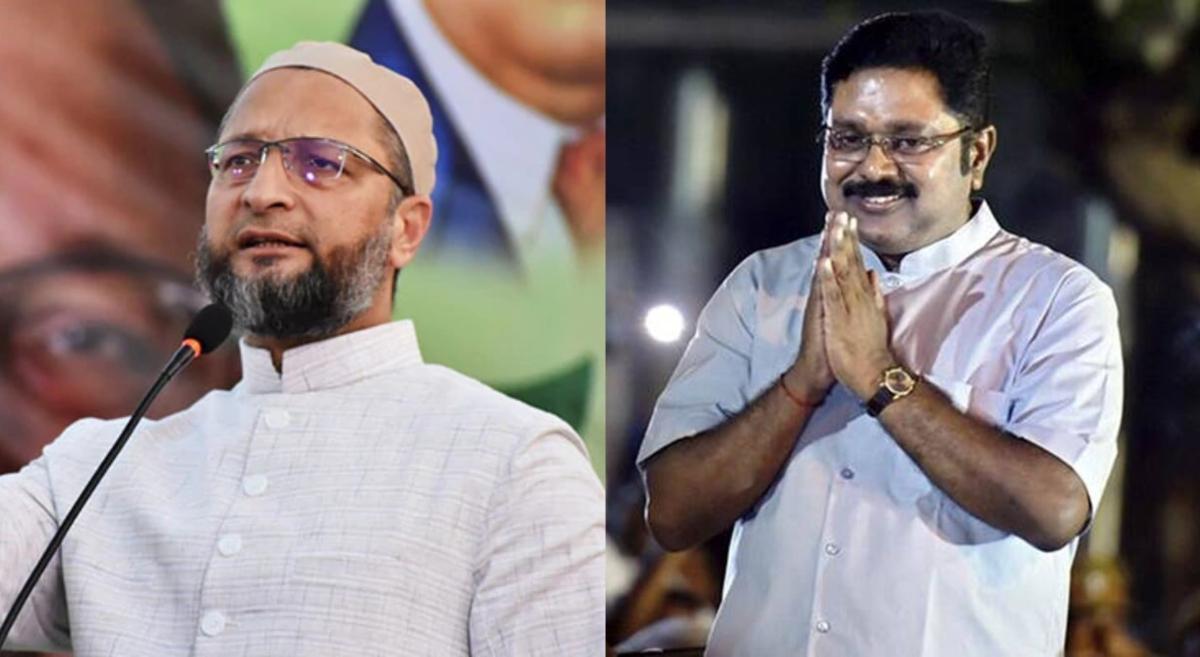 Tamil Nadu Elections 2021: AIMIM's Asaduddin Owaisi ties up with TTV Dhinakaran's AMMK