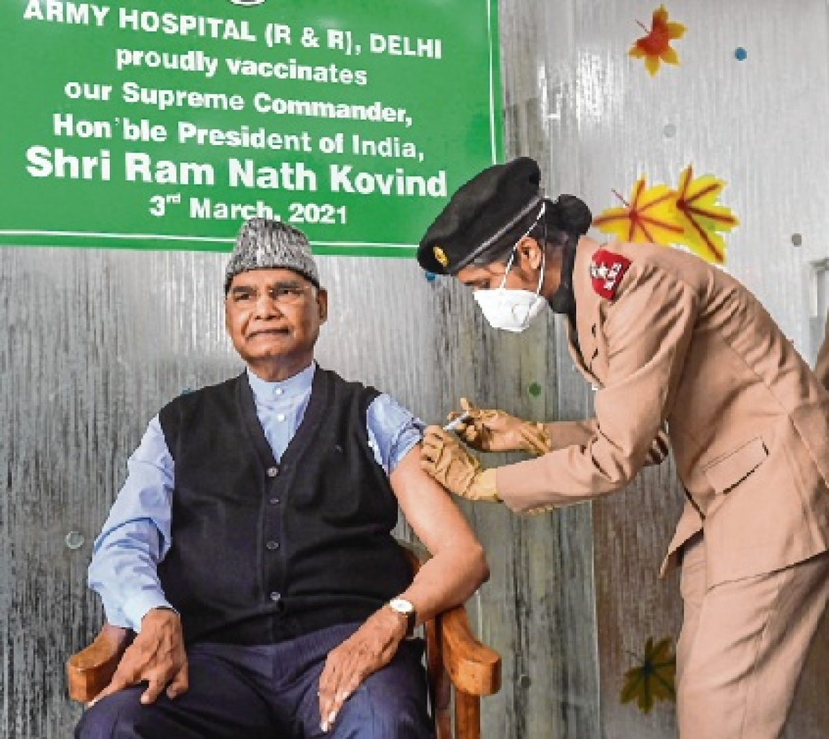 First citizen takes first shot of Covid-19 vaccine