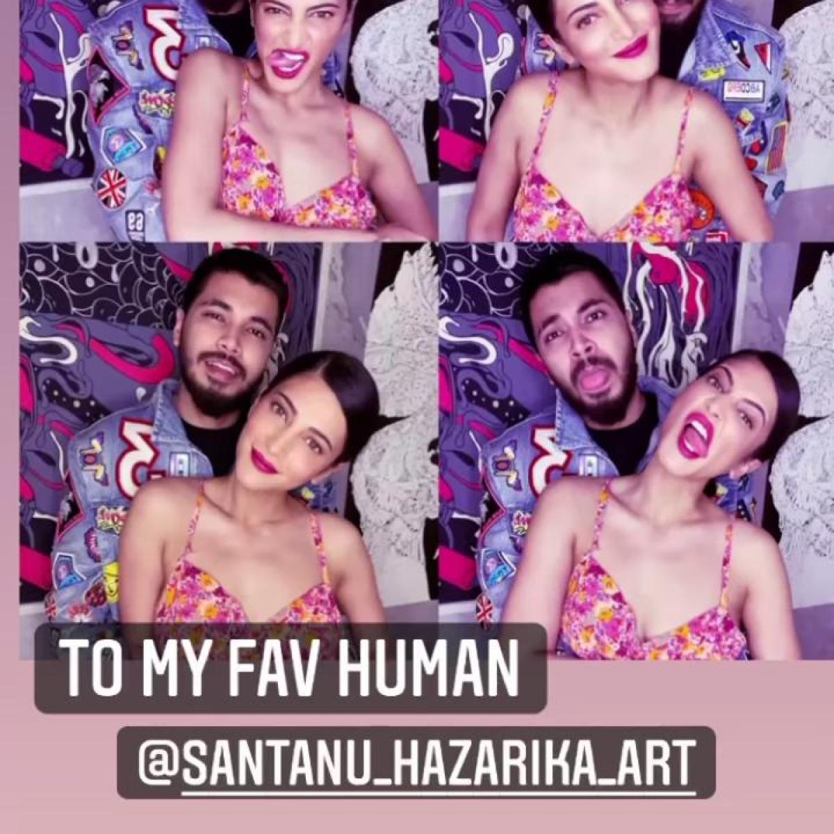 Shruti Haasan shares unseen pics with boyfriend Santanu Hazarika on his birthday, calls him 'fav human'