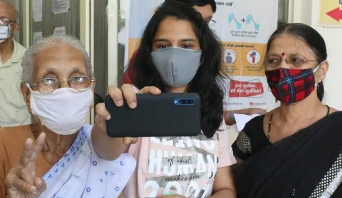 Indore: Vaccination in pictures: 60 plus go for the jab with gusto