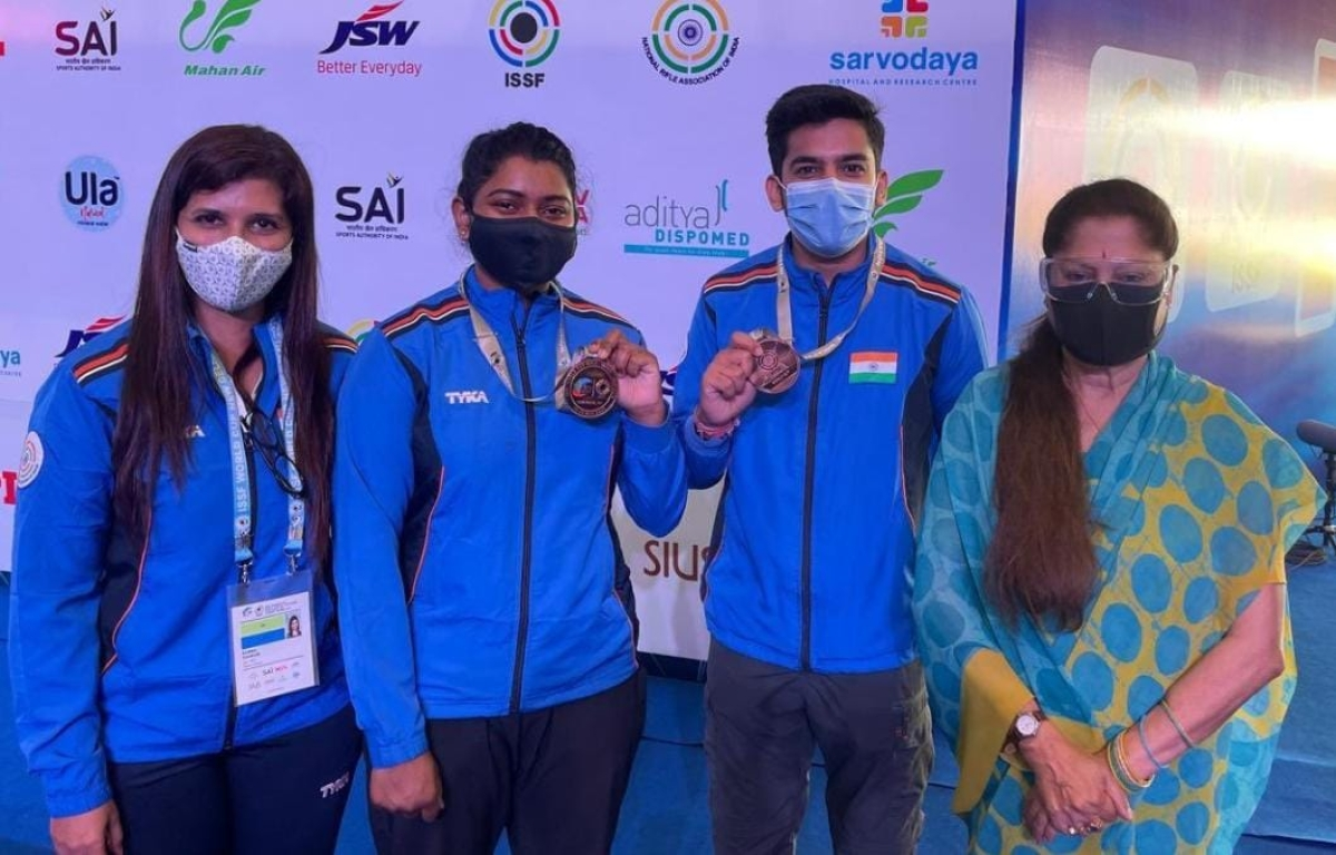 Madhya Pradesh shooting duo brings a bronze for India at World Cup yet again