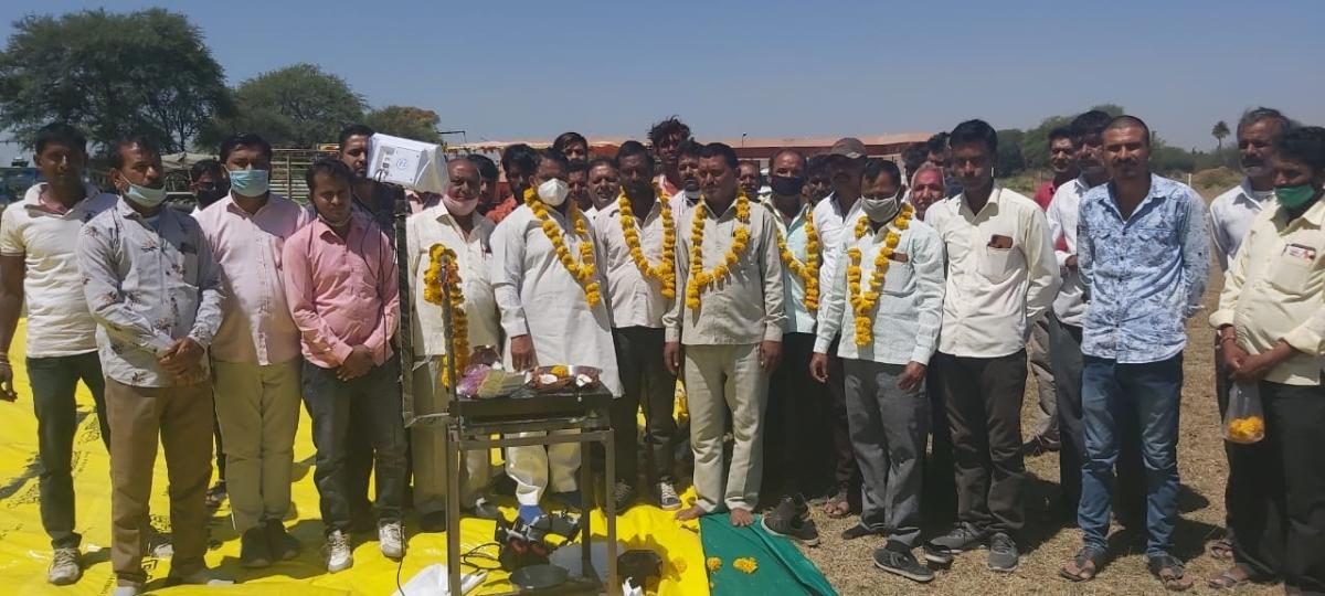 Ujjain: Legislator Murli Morwal inaugurates new wheat procurement centres
