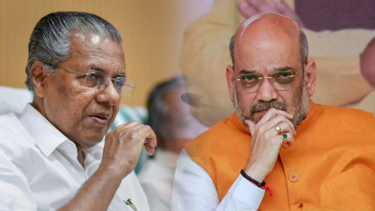 Amit Shah dares Kerala CM Pinarayi Vijayan to answer his questions on dollar smuggling
