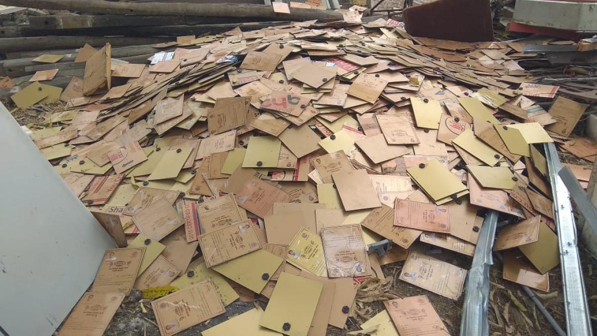 Ujjain: 5,000 loan waiver certificates found at scrap vendor's shop