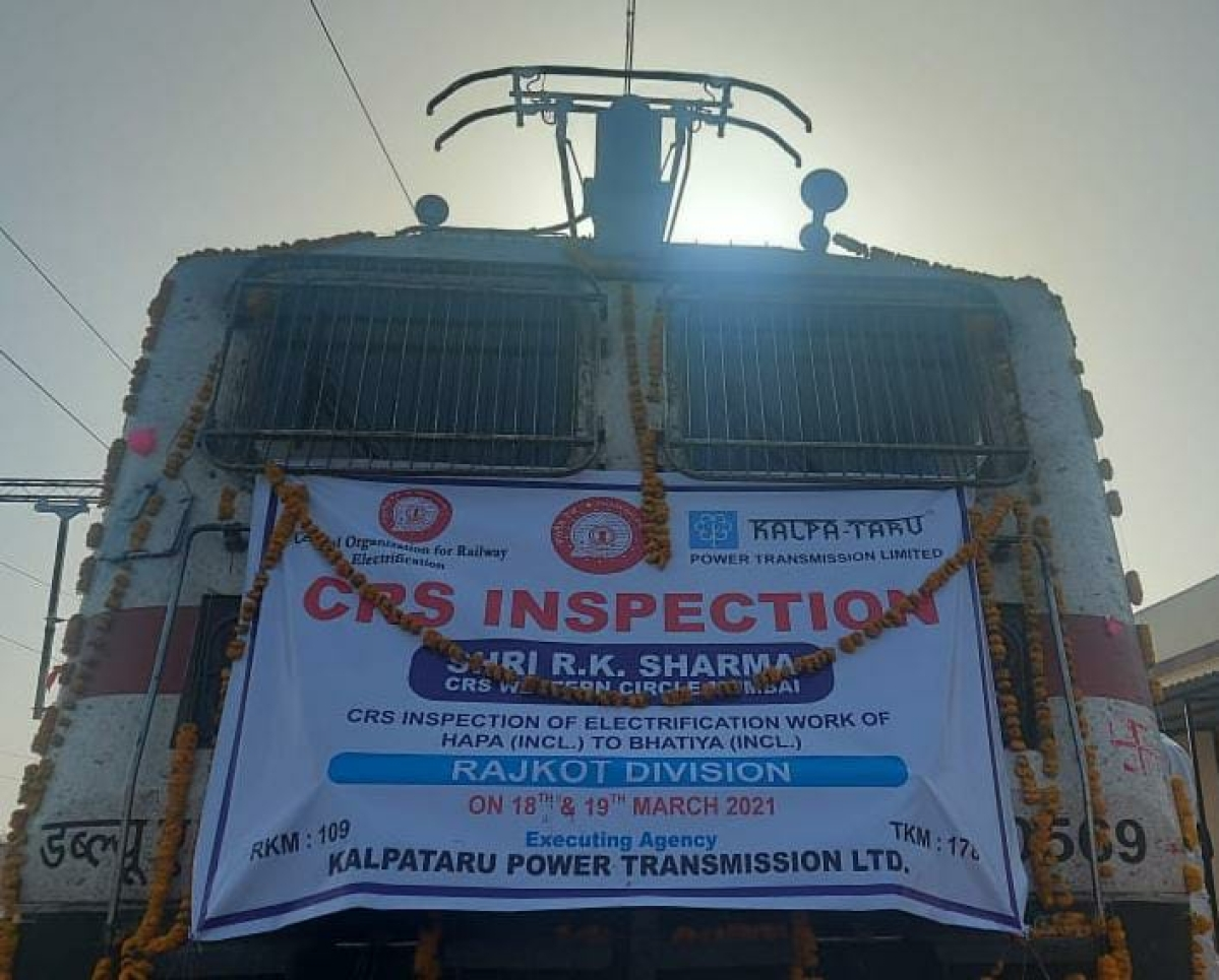 R.K. Sharma – Commissioner of Railway Safety inspects newly electrified Hapa – Bhatiya section of WR's Rajkot Division