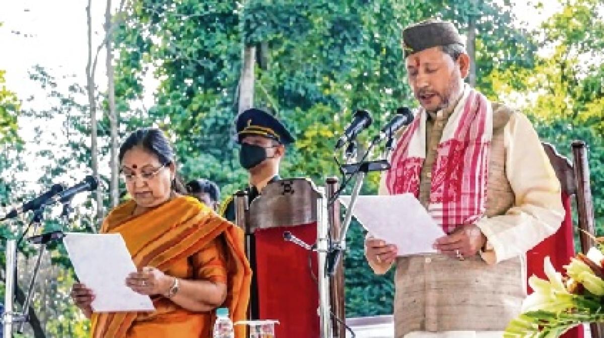 11 ministers take oath in new Uttarakhand CM's Cabinet