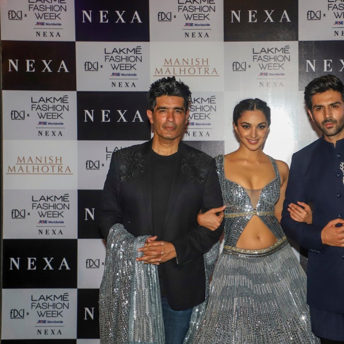 FDCI x Lakme Fashion Week 2021: 'Bhool Bhulaiyaa 2' stars Kartik Aaryan, Kiara Advani turn showstoppers for Manish Malhotra
