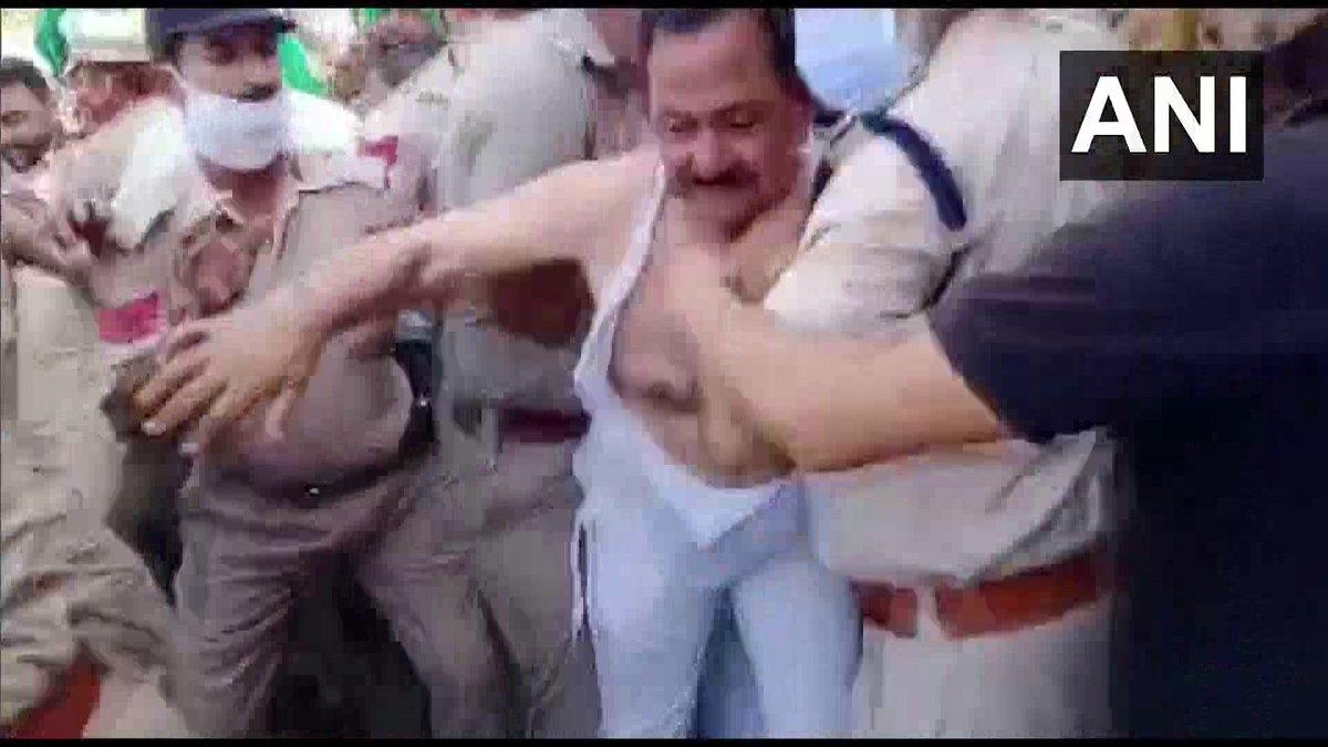 Protesting farmers tear clothes of BJP legislator Arun Narang in Punjab's Muktsar