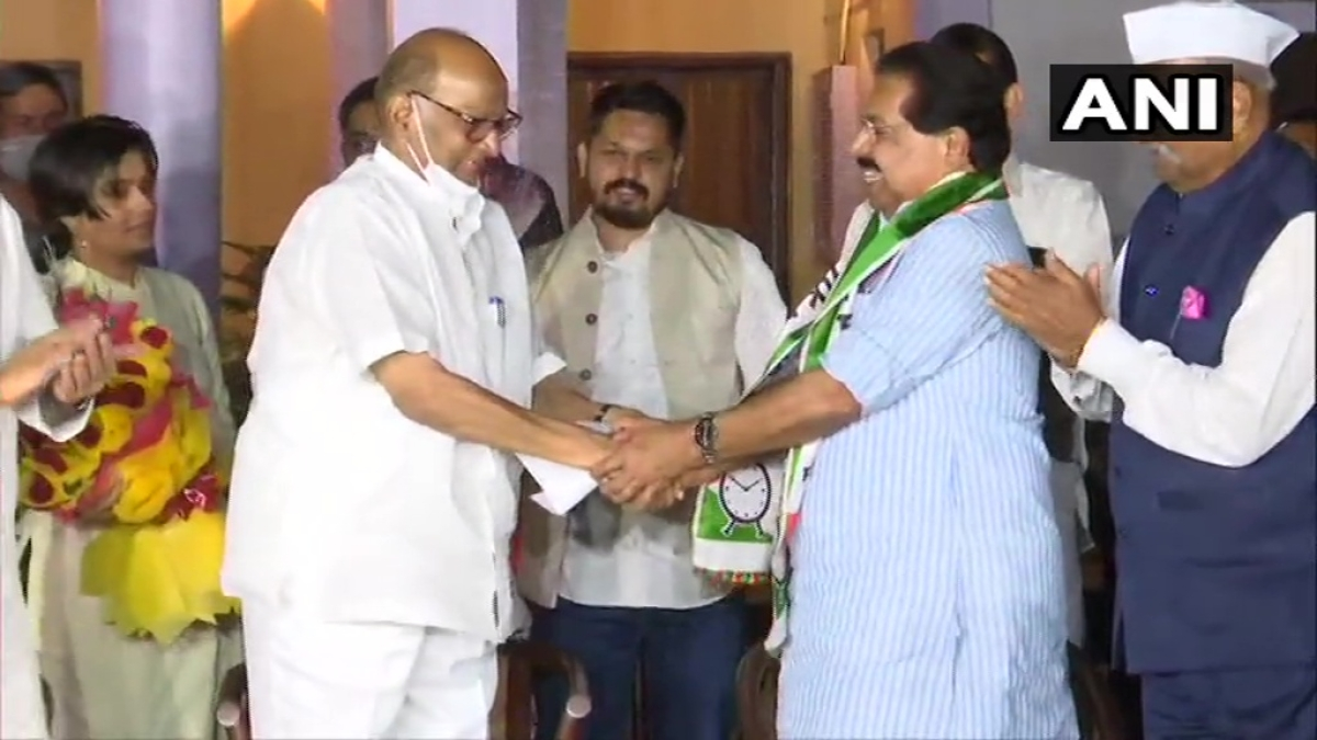 Ex-Congress leader PC Chacko joins NCP in presence of Sharad Pawar