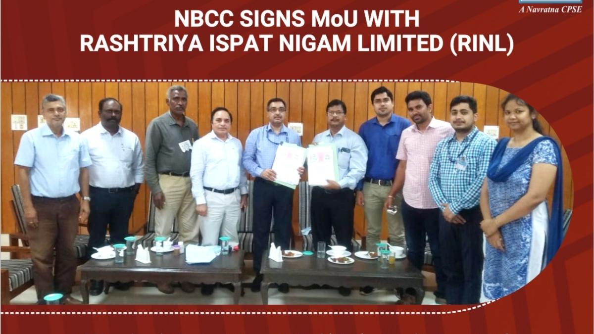 NBCC signs MoU with Rashtriya Ispat Nigam Limited (RINL)