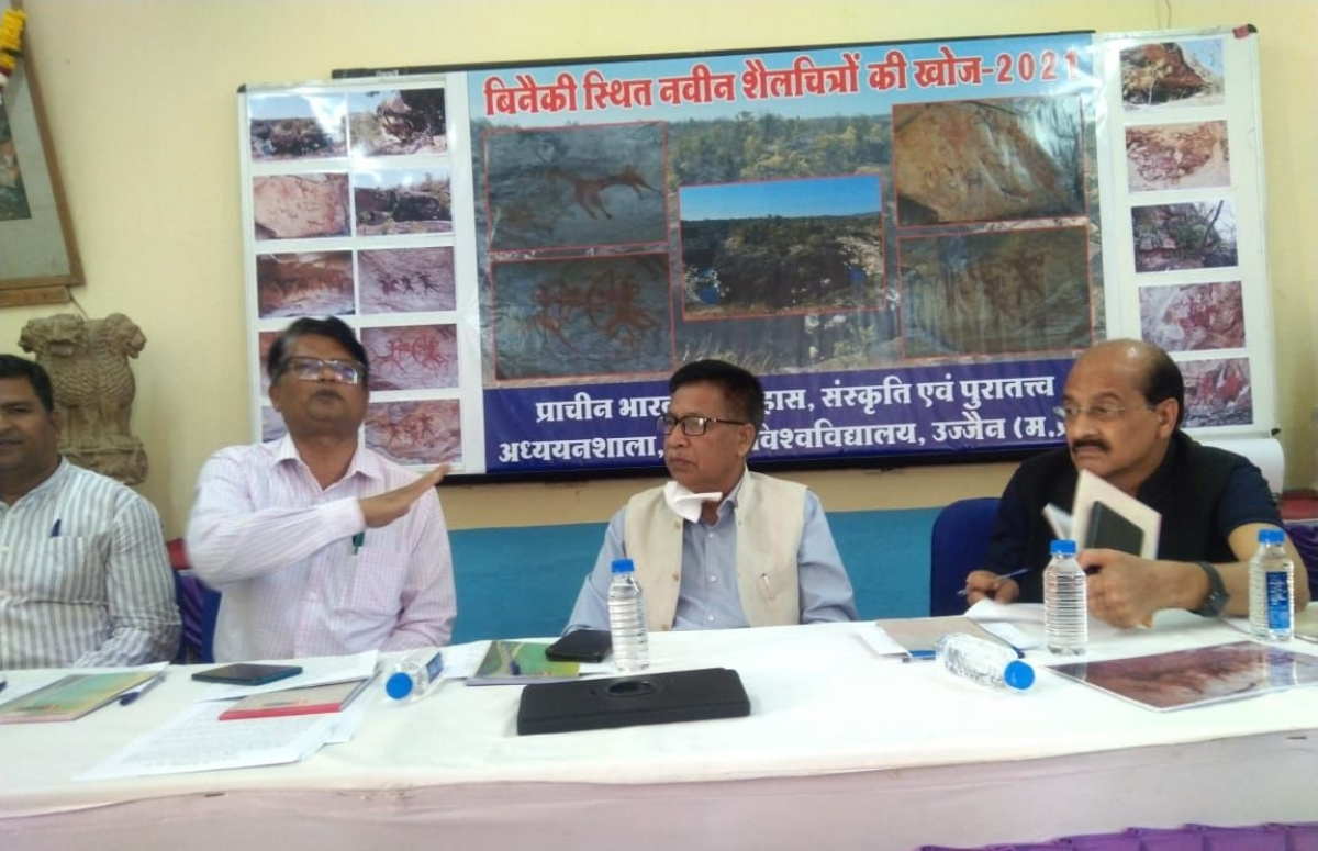 VC shares information about the discovery in a meet in Ujjain on Tuesday