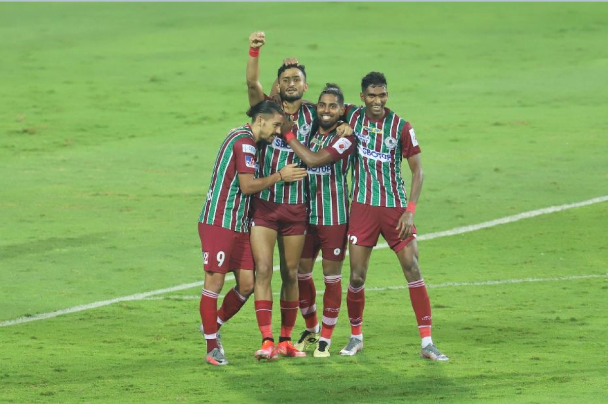 ATK Bagan players celebrate after the match