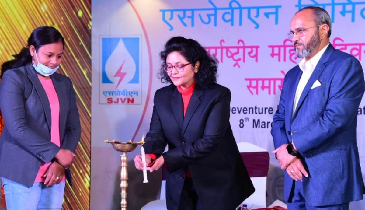 SJVN organises motivational talk by Dr Arunima Sinha on International Women's Day 2021
