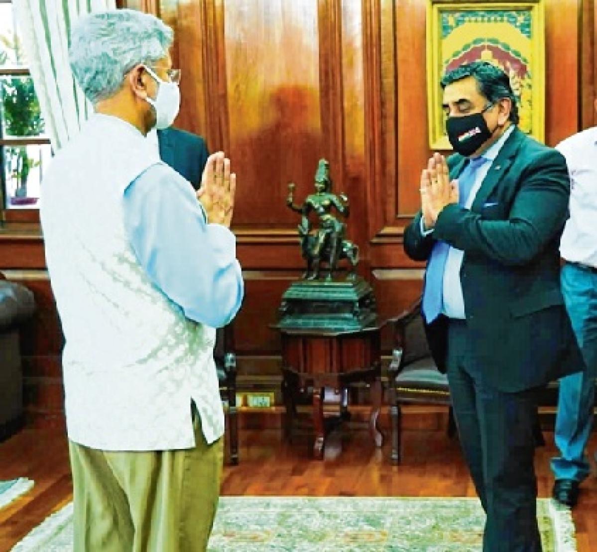 Jaishankar discusses bilateral ties, global co-operation with UK minister Lord Tariq Ahmad