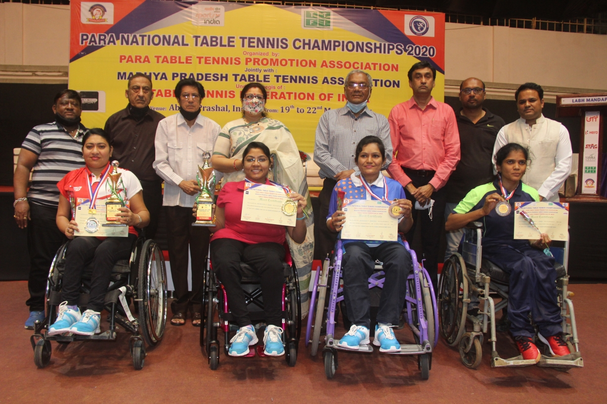 Indore: Bhavina, Nikita, Sandeep, Om are winners in para national table tennis tournament