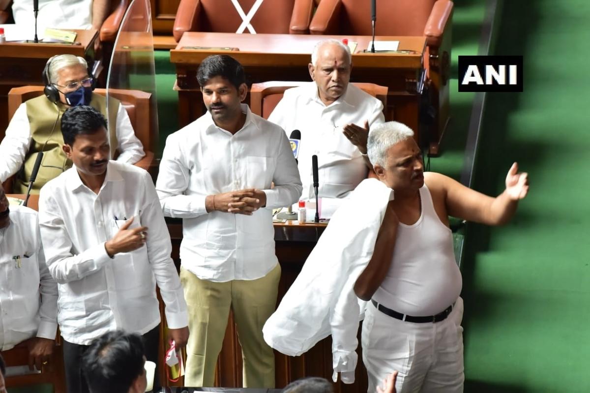 Karnataka Congress MLA BK Sangamesh suspended for a week for 'indecent' act of removing shirt inside assembly