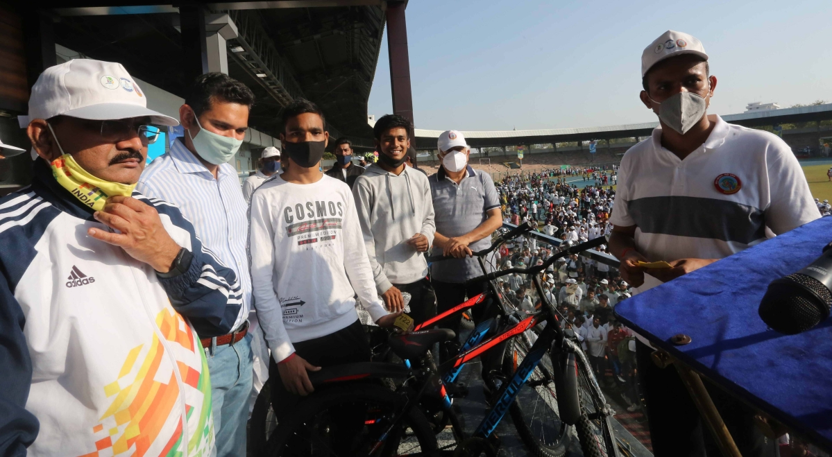 Cycle rally & march held to spread cleanliness message in Bhopal