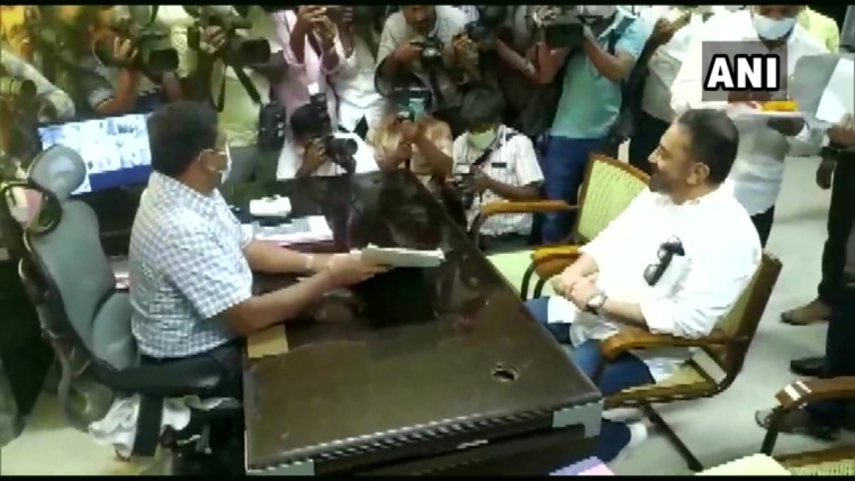 Tamil Nadu Assembly polls: MNM chief Kamal Haasan files nomination for Coimbatore South assembly constituency