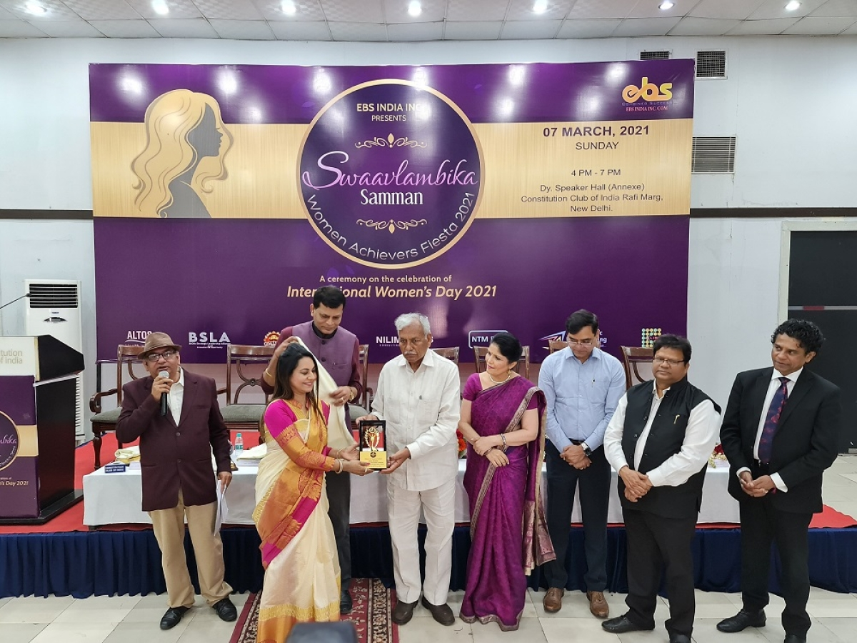 Pritika Kalra Gandhi bags Swaavlambika Samman 2021 on International Women Day