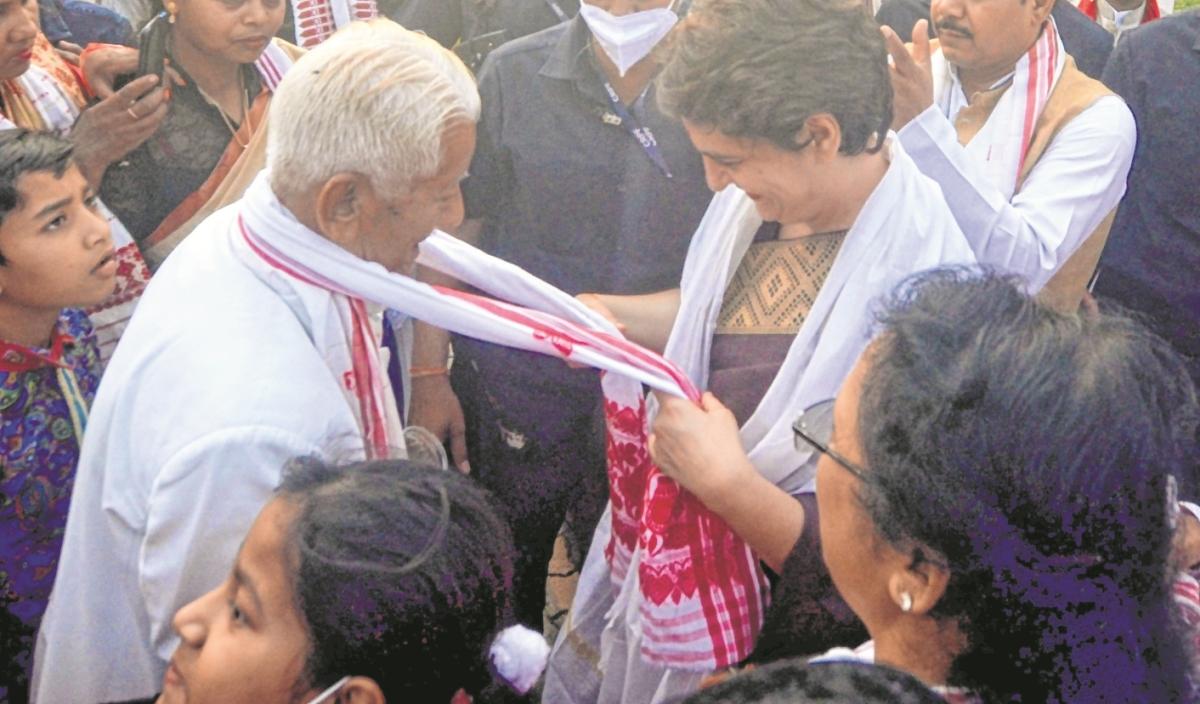 Priyanka Gandhi begins 2-day Assam visit
