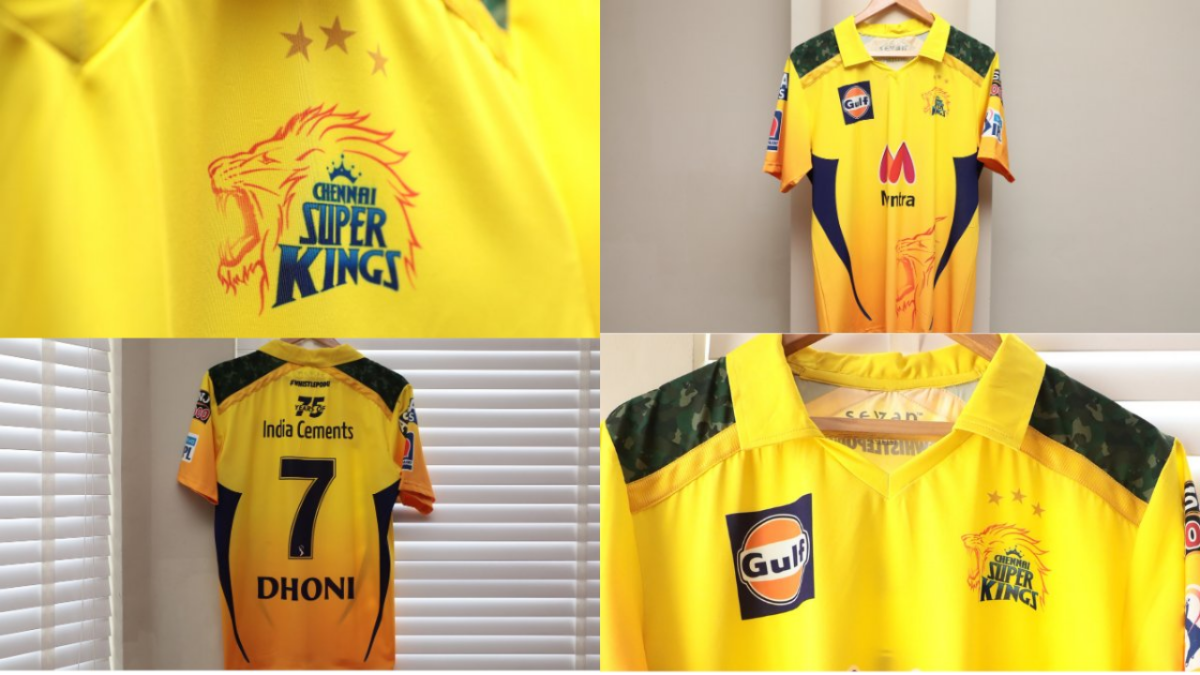 Twitterati #yellove CSK's new jersey with camouflage on shoulders