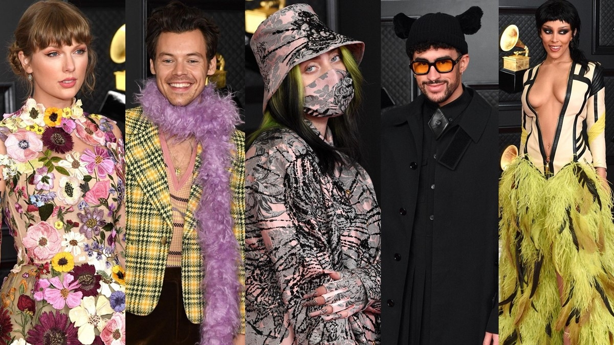 Grammys 2021 Red Carpet: Celebs put their fashion foot forward at music's biggest night