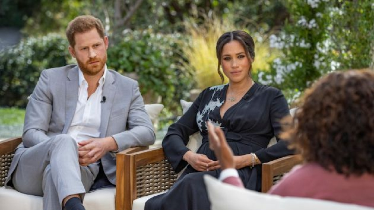 Meghan Markle wears Princess Diana's Rs 1.27 crore bracelet during Oprah Winfrey interview