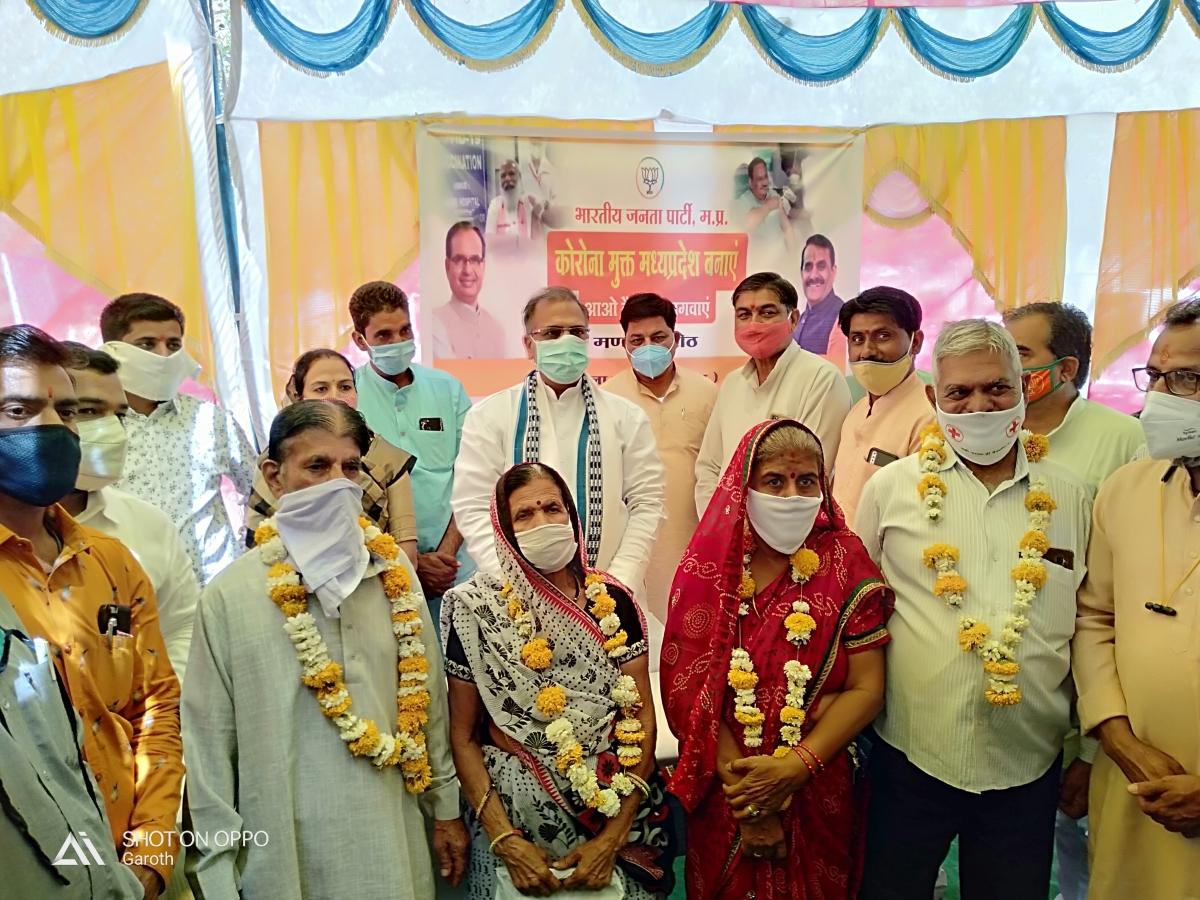 Madhya Pradesh: Member of Parliament fetes senior citizens in Garoth for getting vaccinated
