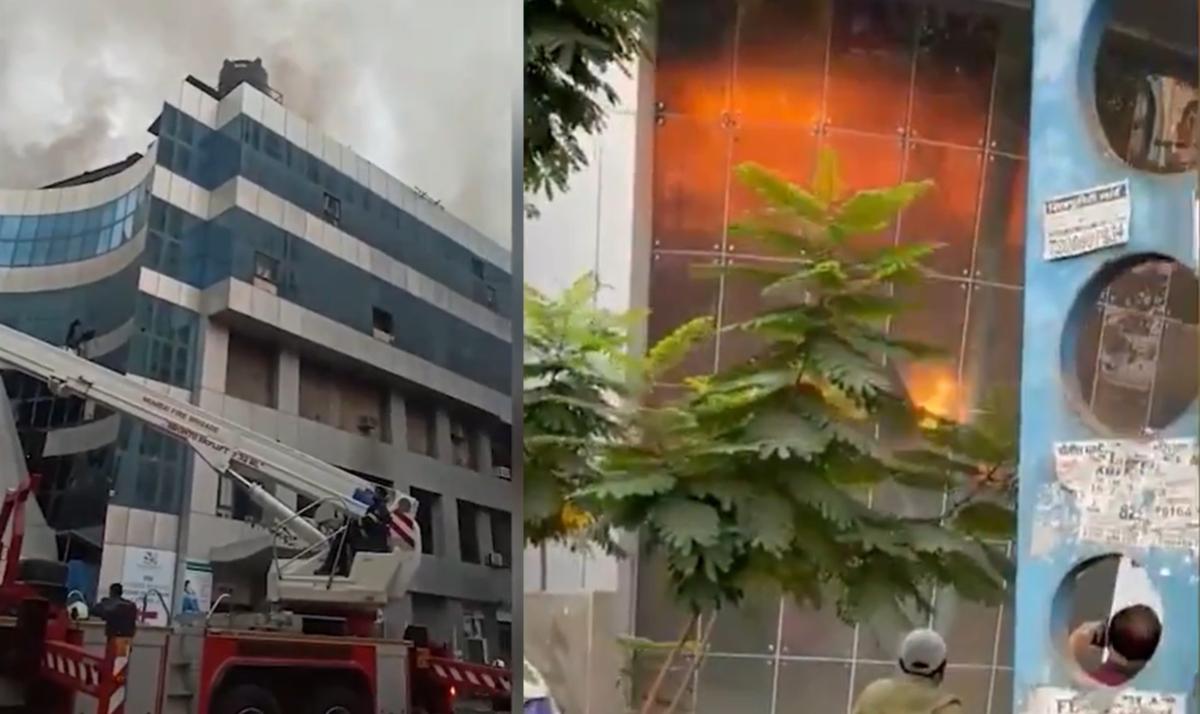 Mumbai: INSIDE footage of Bhandup's Dream Mall Sunrise hospital fire -- Watch video