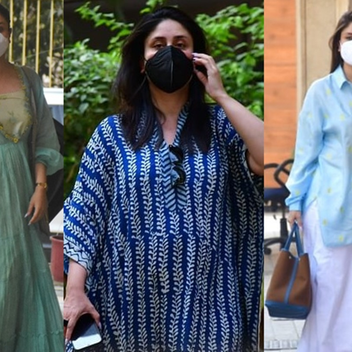 In Pics: Kareena Kapoor Khan continues to wear blue for a third time after welcoming newborn son
