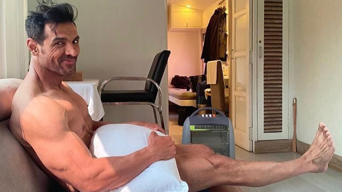 Summer arrives early thanks to John Abraham's nude pic with just a pillow