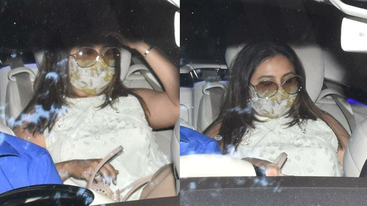 Watch: Rani Mukerji makes a rare appearance with short hair as she arrives at Anil Kapoor's residence