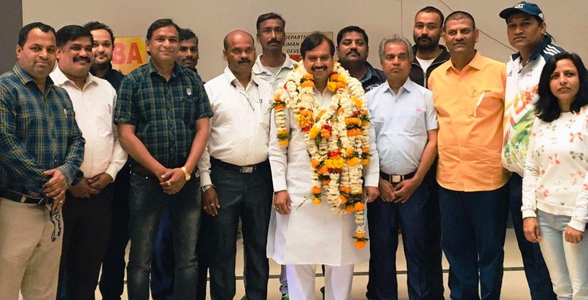 Indore District Yogasan Sports Association office bearers