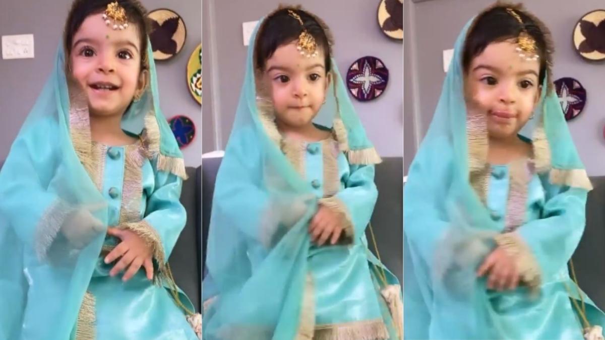Watch: Jay Bhanushali, Mahhi Vij dress up daughter Tara in salwar suit for Kanjak puja